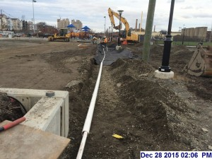 12/28/15 Constructing the water pipes for the play Ground.